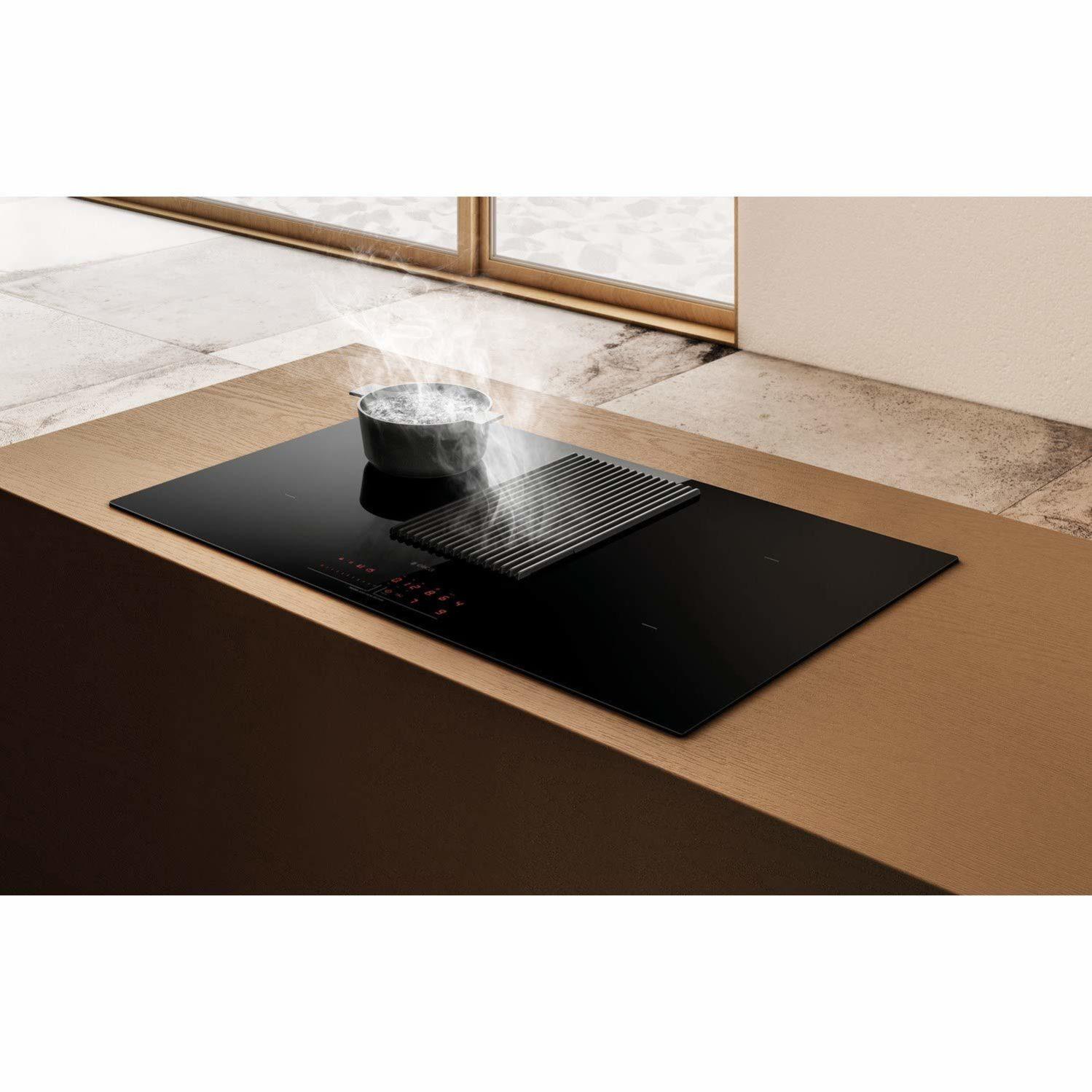 Piano Cottura Aspirante Elica Prezzo elica nikola tesla prime piano cottura induzione con cappa integrata  filtrante 4 fuochi da 83 cm