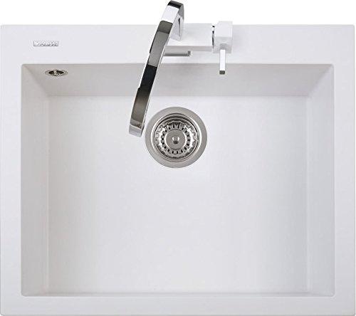 Lavello Cucina Incasso 1 Vasca L 60 cm Bianco Latte ON6010UG58